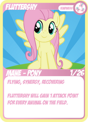 Fluttershy TCG by Wafflesincluded