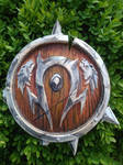 Orc crest from World of Warcraft wood carved 2