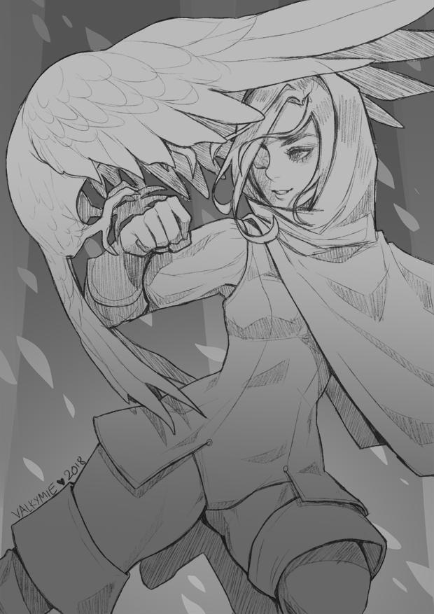 Inktober2018 #5   Human Ranger by Valkymie