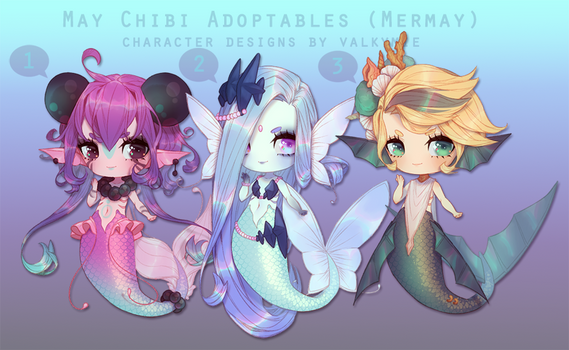[OPEN|PriceDropFinal] Mermay Chibi Batch Adopts