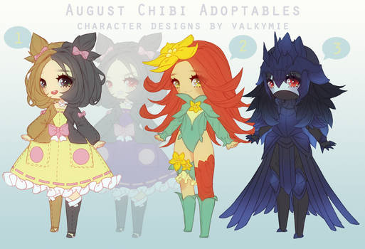 [OPEN|PRICE DROP] August Adopts (Pokemon Gijinkas)