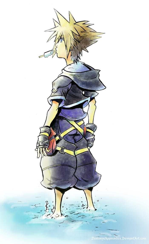 Sora Kingdom Hearts Lineart : Sora kingdom hearts color by destinysapprentice on