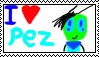 I love Pez stamp by Annaley