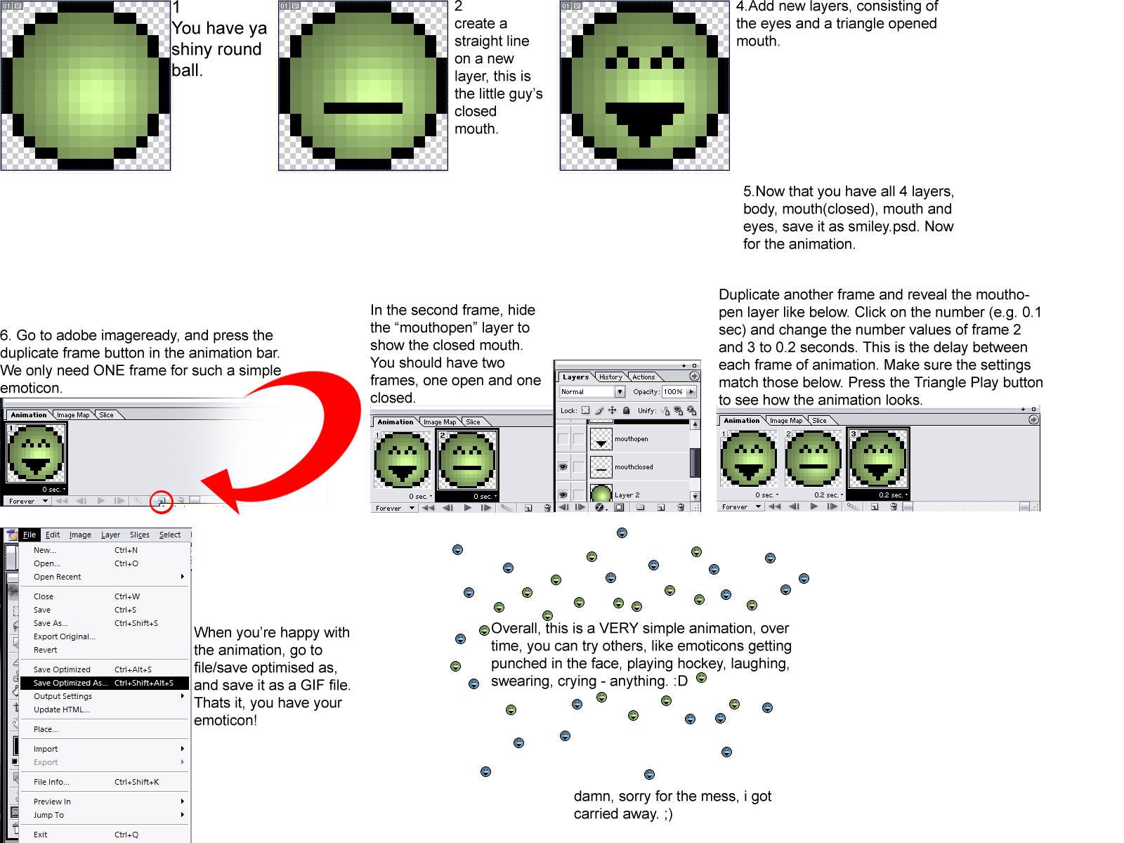 Emoticon Tutorials - Animation by emoticons