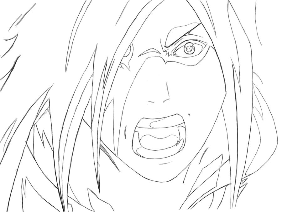how to draw madara step by step