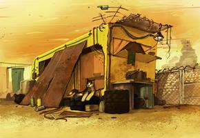 Speedpaint - Scrapyard Home by Anarki3000