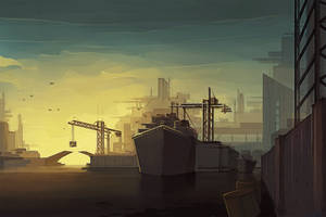 Environment Concept - Harbour by Anarki3000