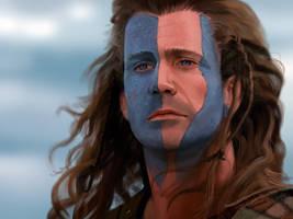 William Wallace / Mel Gibson by Anarki3000