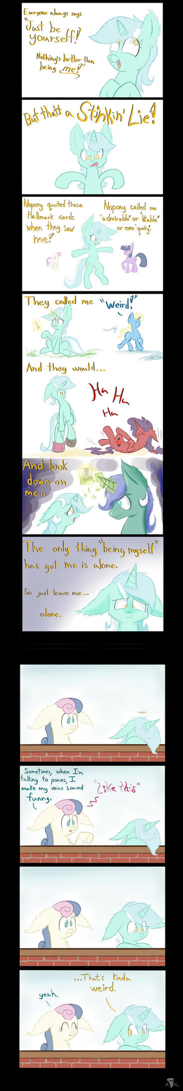 Just Be Yourself by Heir-of-Rick