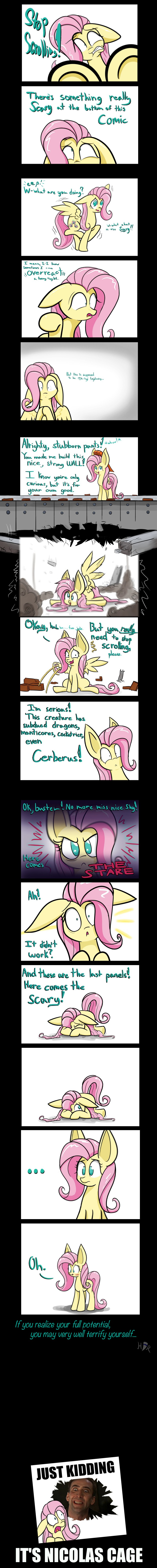 There's a Monster at The End of This Comic by Heir-of-Rick