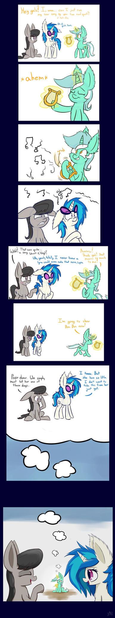Lyra comic 2 by Heir-of-Rick