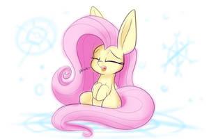 Sleepy snow pony by Heir-of-Rick