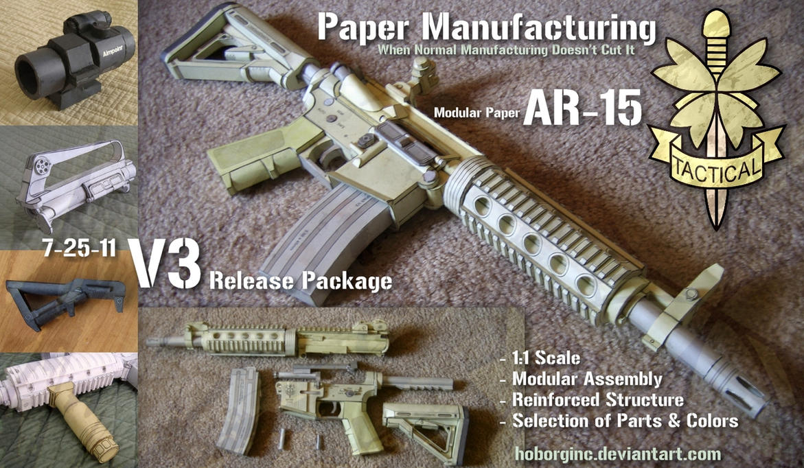Modular paper ar15 v3 by hoborginc on deviantart modular paper ar15 v3 by hoborginc pronofoot35fo Gallery