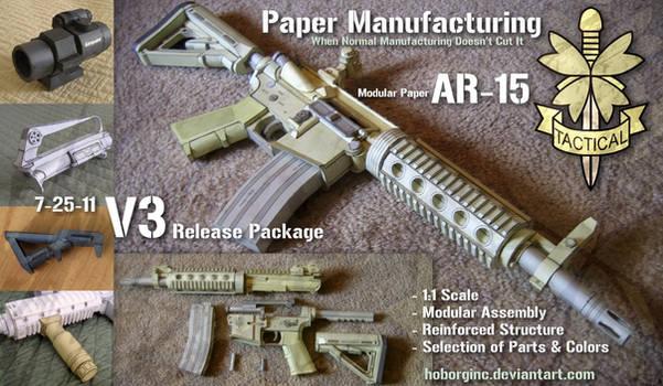 Modular Paper AR15 V3