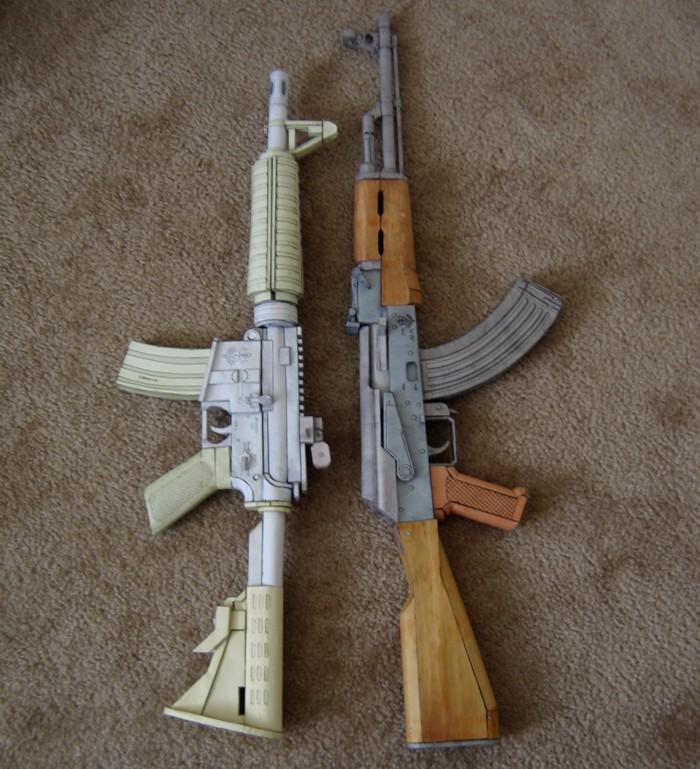 AR vs AK by Hoborginc