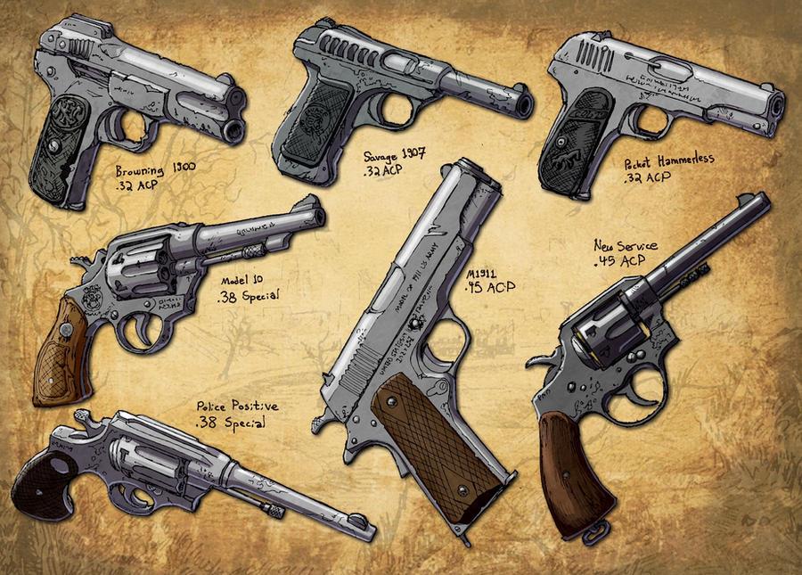 Ranch Hand Pistols by Hoborginc