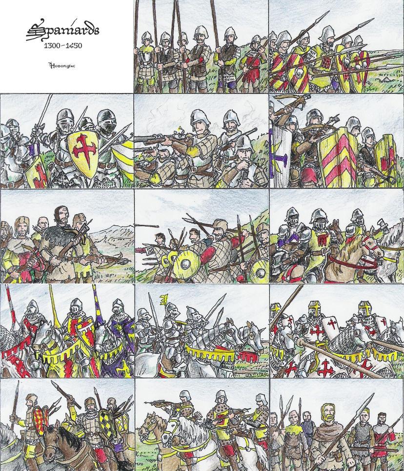 Spaniards 1300-1450 by Hoborginc