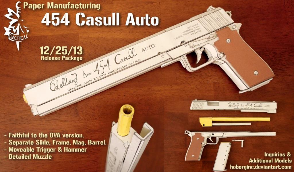 Hellsing Paper Model Casull