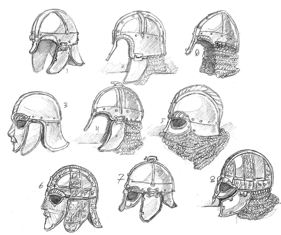 Anglo-Saxon Helmets by Hoborginc