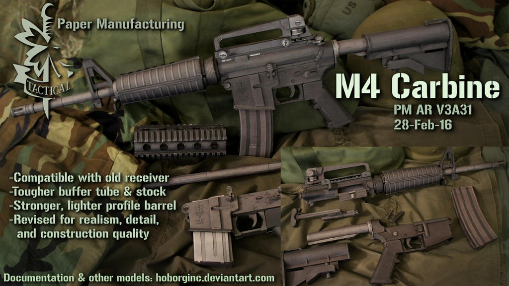 Pm M4 Carbine Ar V3a31 By Hoborginc On Deviantart