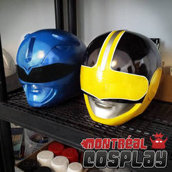 Blue MMPR  Yellow Time Force