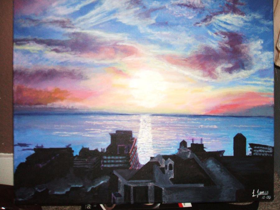 Tenerief landscape painting by poisonappleltd on deviantart for Artworks landscape ltd