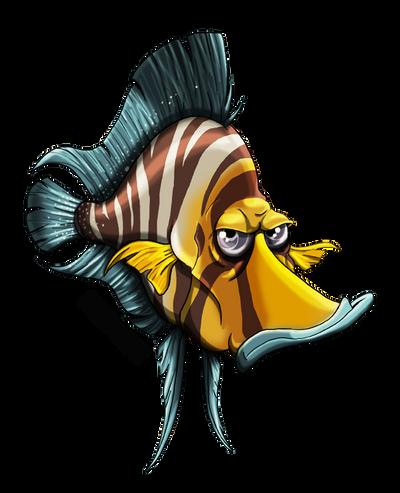 GOLD HEAD FISH by Porkchop-ART