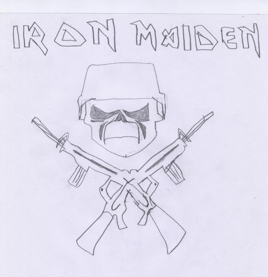 Iron Maiden Military Logo by Azael1332Ragnarok