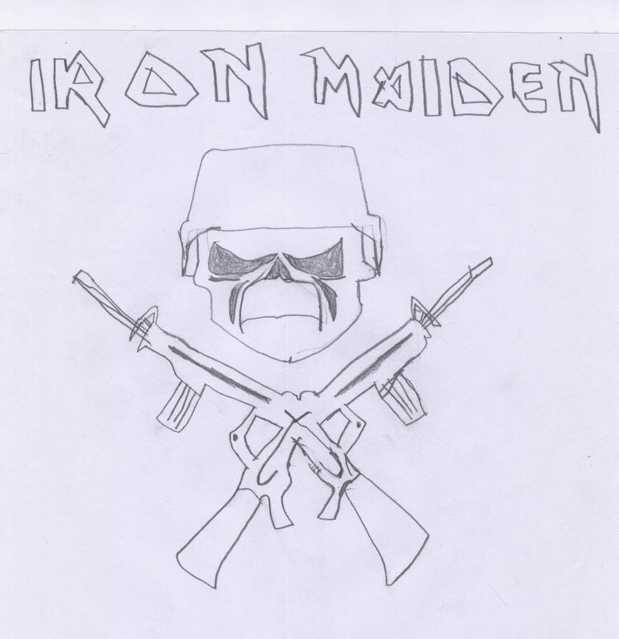 Iron Maiden Military Logo by Azael1332Ragnarok