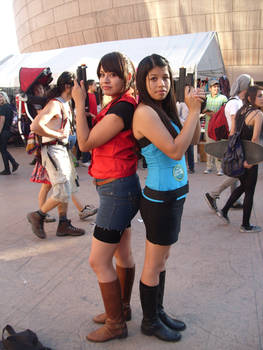 Resident Evil Claire and Jill Cosplay
