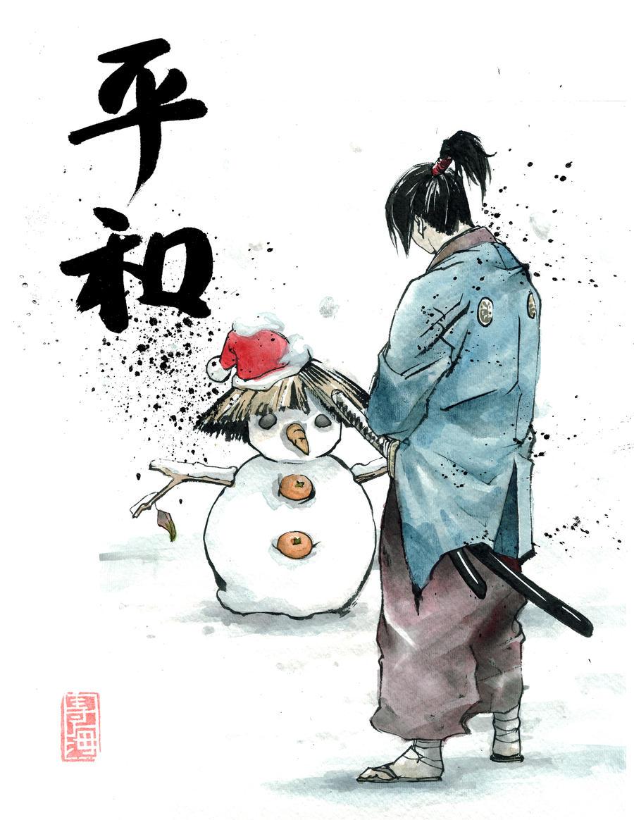 [ Kenshi no monogatari ~ L'histoire de Kenshiro Hiruko ] Samurai_snow_man_by_mycks-d327io2