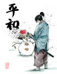 Samurai snow man