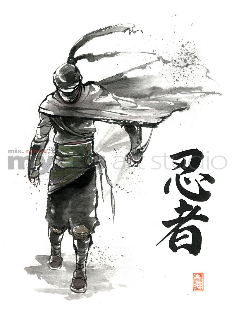 Ninja standing by MyCKs on DeviantArt