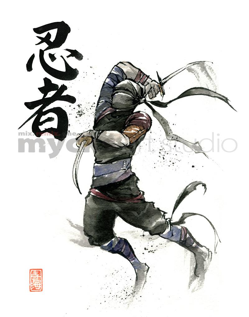 Ninja midair by MyCKs on DeviantArt