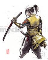 Samurai's Back by MyCKs