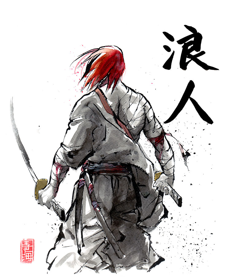 Japanese Tattoo Wallpaper: Ronin By MyCKs On DeviantArt
