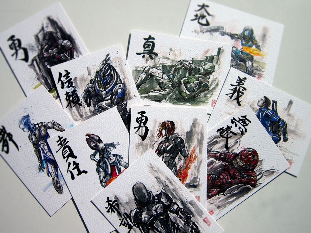 Artist Trading Card Set ME Sumie Series  By MyCKs On