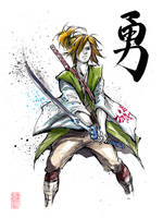 Link from Zelda Sumie Style by MyCKs