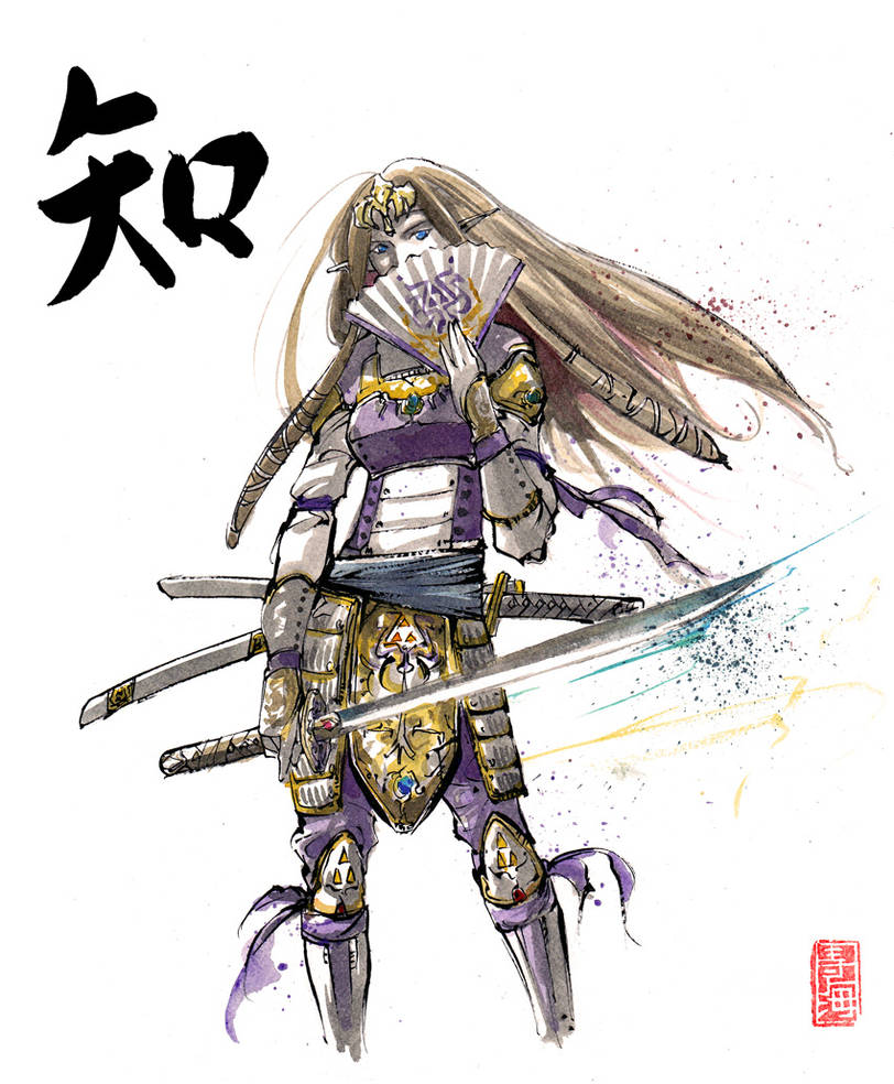 Zelda Sumie Style the princess by MyCKs