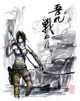 Lara Croft Sumie Style by MyCKs