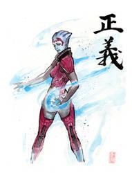 Samara with sumi and watercolor by MyCKs