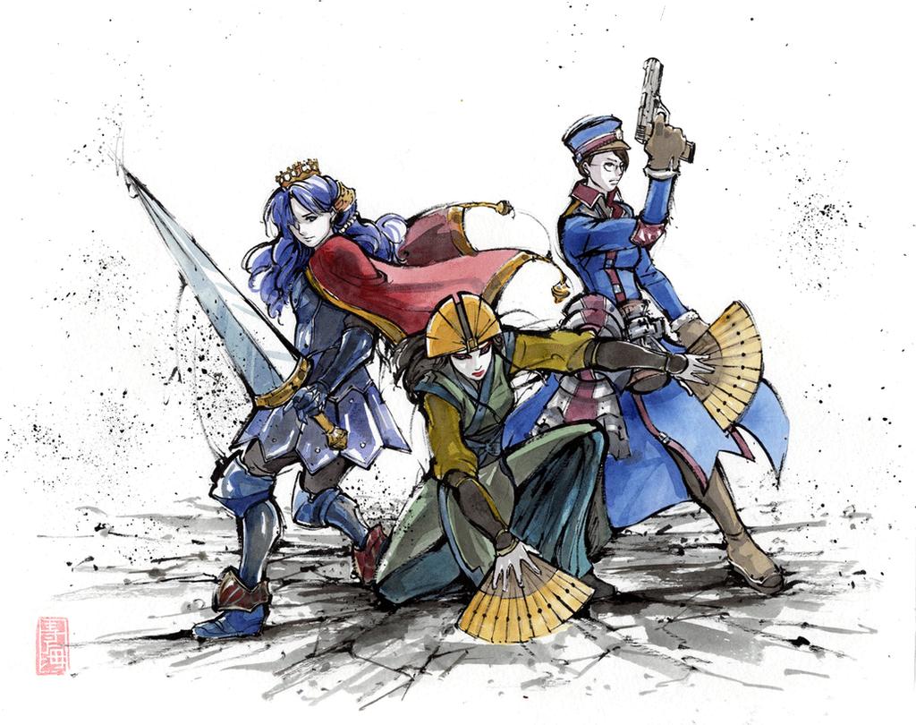 Kyoshi, Varrot and Elfaran Trio by MyCKs
