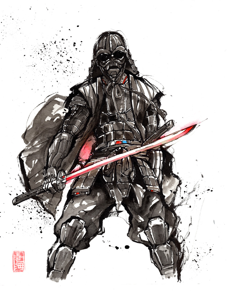 Darth Samurai sumi by MyCKs