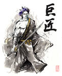 Master sumi and watercolor