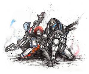 ME trio by MyCKs