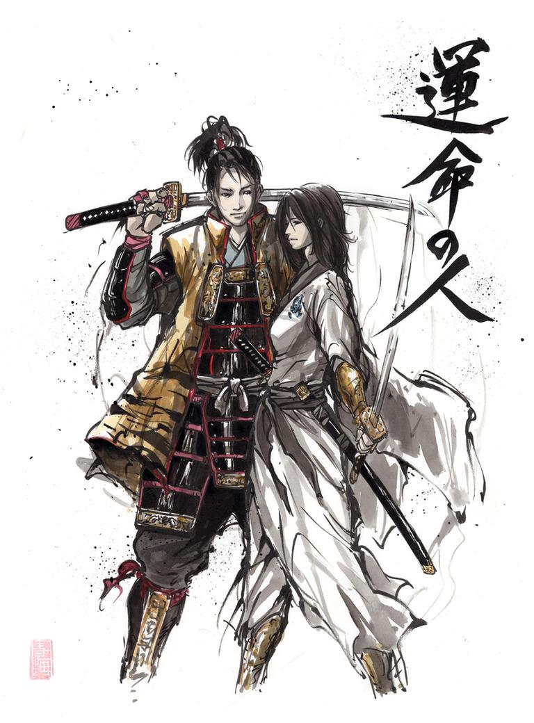 Samurai Warrior couple Soul Mates by MyCKs