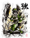 Toph with sumi and watercolor