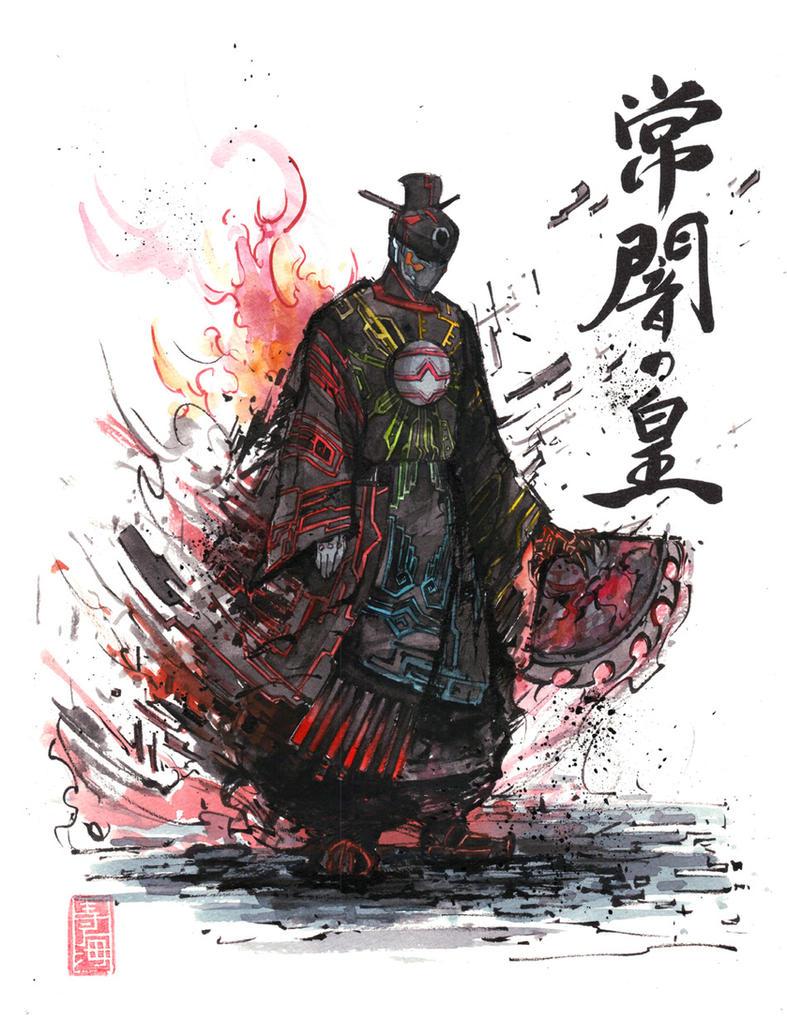 Tokoyami Emperor of Eternal Darkness sumi by MyCKs