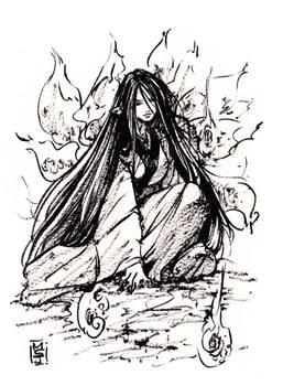 Kyuubi ink sketch