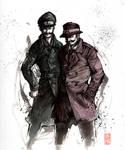 Mario and Luigi detective style
